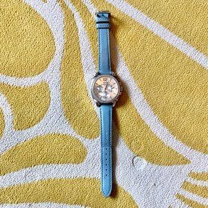 Coach Blue Swarovski Studded Leather Watch